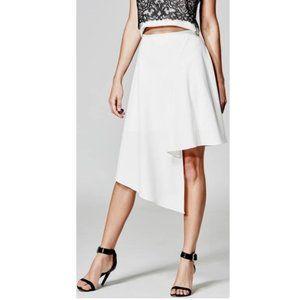 Marciano Asymmetrical White Skirt sz 10